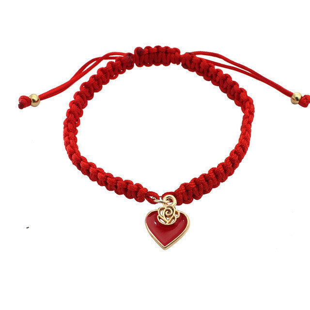 Pure Red Love Bracelet - red