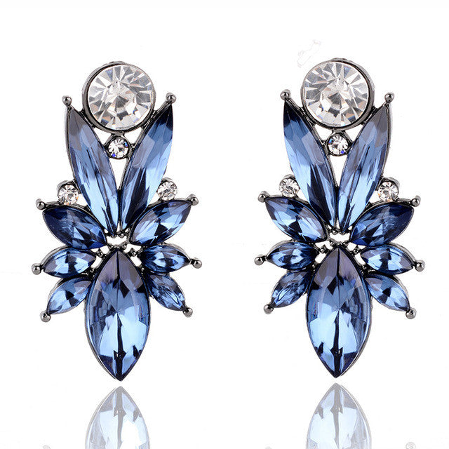 I'm So In Love Earrings - Royal Blue