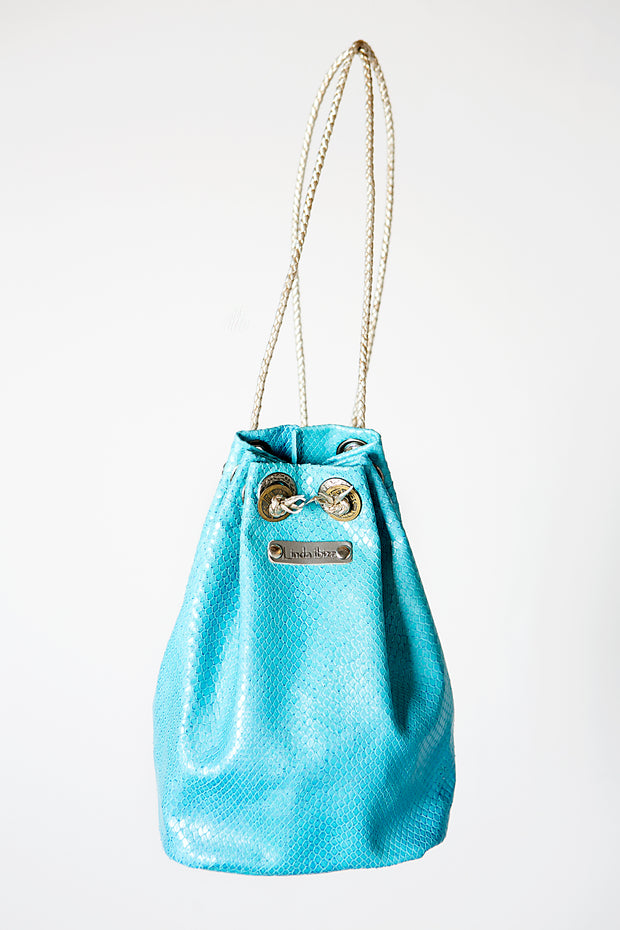 The Turquoise Handmade Leather Backpack or Bag