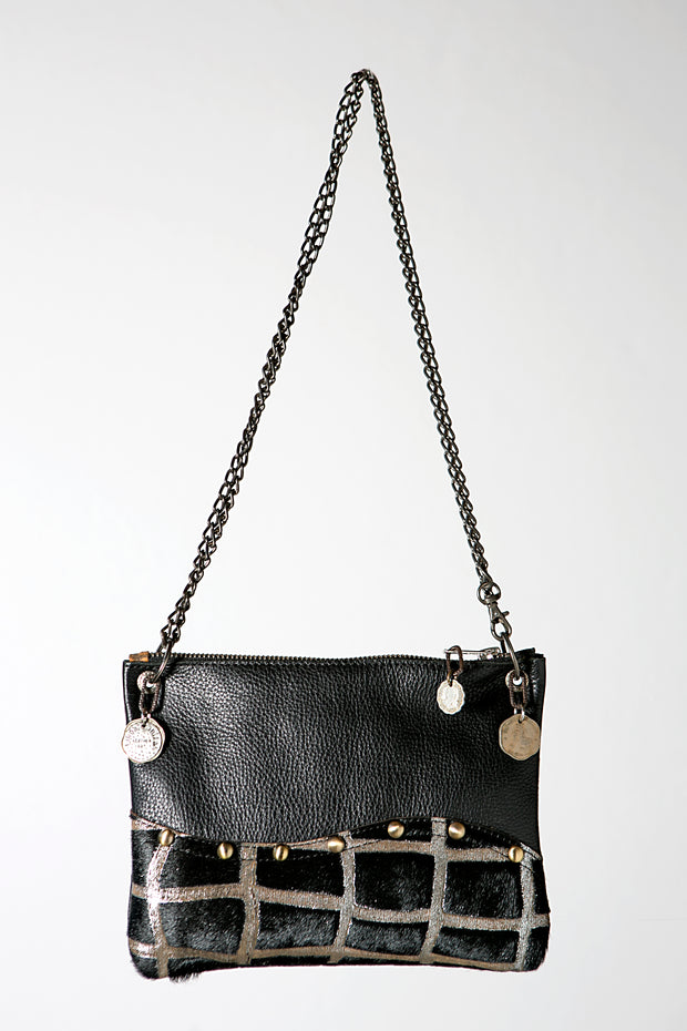 The Handmade Leather Black Square Crossbody Bag