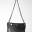 Leather black and white cow hide and hair crossbody handbag