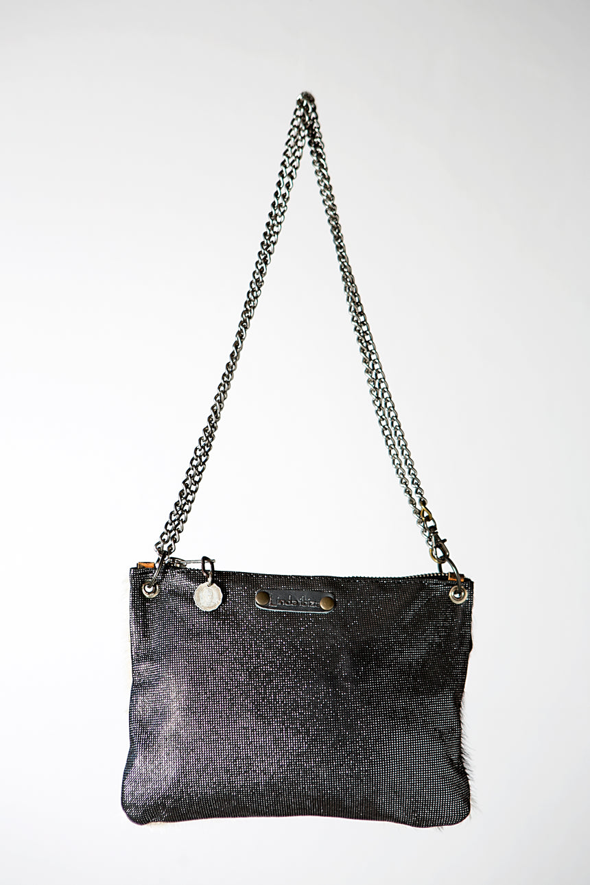 The Cow - Black and White Handmade Leather Hide and Hair Handbag