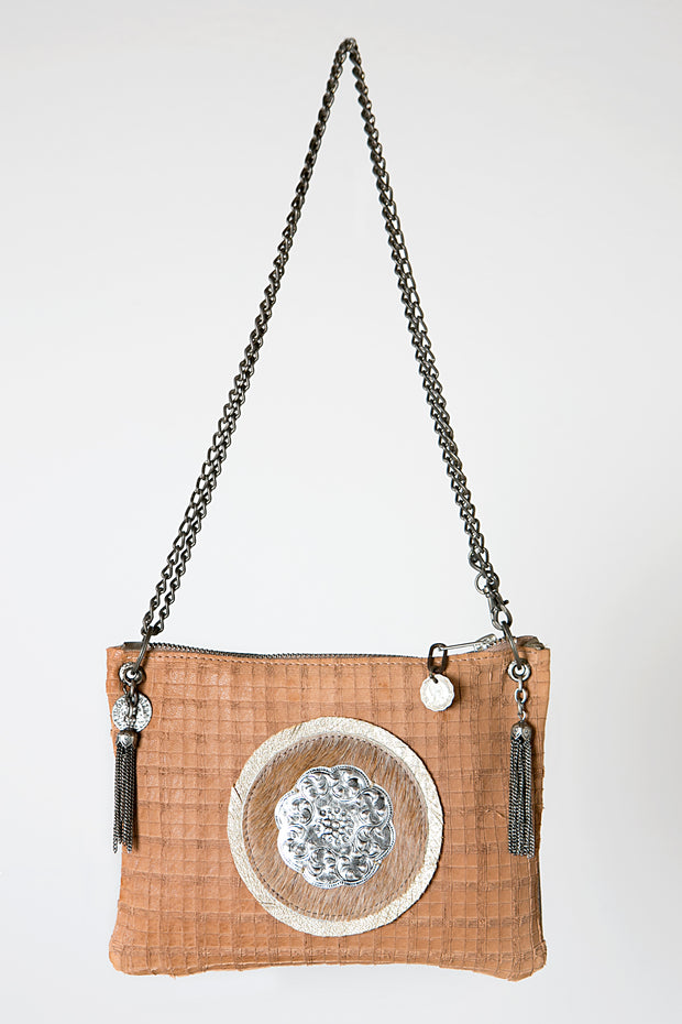 The Dark Beige Handmade Leather Crossbody Bag