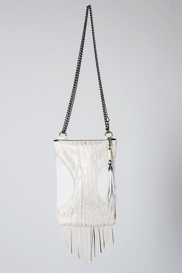 The White Chic Sacoche Leather Handbag