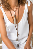 leather necklace, collar de cuero bohemian style