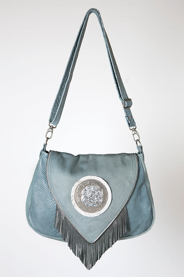 The Blue Fringe Purse