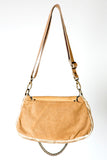 Medium Nicole Bag II- Handmade Beige and Tan Leather Handbag