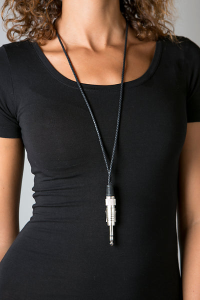 Stereo Jack Necklace - For DJ's and Music Lovers