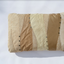 Beige and cream handmade leather pillow Linda Ibiza