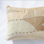 cream and beige handmade leather pillow Linda Ibiza