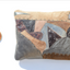 Metallic brown leather pillow with earth tones Linda Ibiza