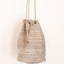 Handmade leather backpack in cream and earth tones Linda Ibiza