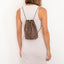 Handmade brown textured leather backpack Linda Ibiza