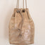 Handmade gold metallic leather backpack Linda Ibiza