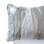 Metallic grey leather pillow with leopard print design - style 25, size 50 x 60 cm