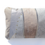 Metallic grey handmade leather pillow Linda Ibiza