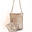Handmade grey and silver metallic larger moblle bag