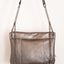 Handmade silver and grey leather V handbag Linda Ibiza
