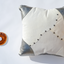 White and silver leather pillow Linda Ibiza
