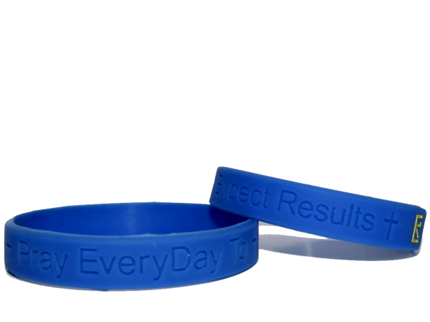 Blue Pray EveryDay Signature Wristband (Set of 2)