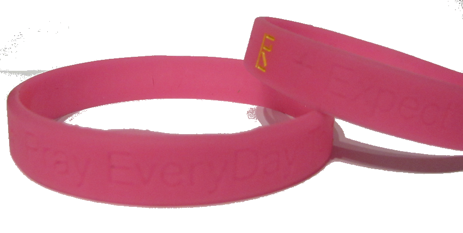 Pink Pray EveryDay Signature Wristband (Set of 2)