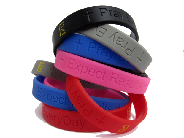 Pray Everyday Signature Wristband - Pick Two