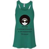 Never Underestimate -  Bella + Canvas Flowy Racerback Tank - Royal Teez Xpress, [poduct_type] - mug, cup, tshirt, hoodie, phone case, tablet case, coaster, apron