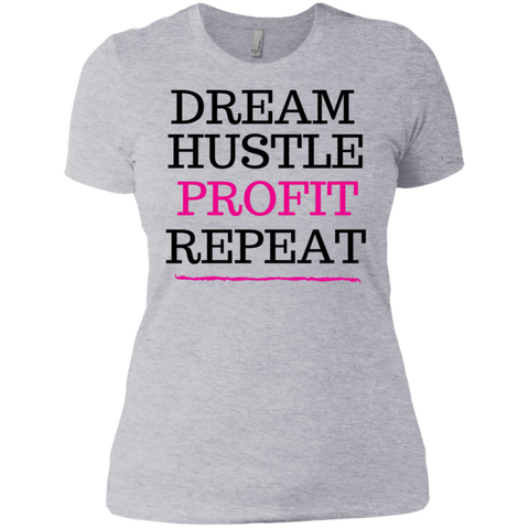 DREAM HUSTLE PROFIT - PINK - Next Level Ladies' Boyfriend T-Shirt - Royal Teez Xpress, [poduct_type] - mug, cup, tshirt, hoodie, phone case, tablet case, coaster, apron