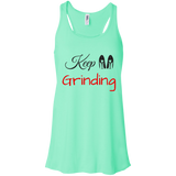 Keep Grinding - Bella + Canvas Flowy Racerback Tank - Royal Teez Xpress, [poduct_type] - mug, cup, tshirt, hoodie, phone case, tablet case, coaster, apron