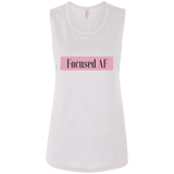 Focused AF - Bella + Canvas Ladies' Flowy Muscle Tank - Royal Teez Xpress, [poduct_type] - mug, cup, tshirt, hoodie, phone case, tablet case, coaster, apron