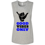 Good Vibes -  Bella + Canvas Ladies' Flowy Muscle Tank - Royal Teez Xpress, [poduct_type] - mug, cup, tshirt, hoodie, phone case, tablet case, coaster, apron