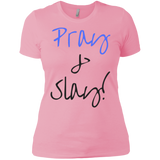 Pray & Slay Next Level Ladies' Boyfriend T-Shirt - Royal Teez Xpress, [poduct_type] - mug, cup, tshirt, hoodie, phone case, tablet case, coaster, apron