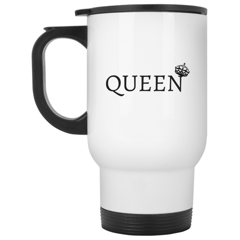 QUEEN - White Travel Mug - Royal Teez Xpress, [poduct_type] - mug, cup, tshirt, hoodie, phone case, tablet case, coaster, apron