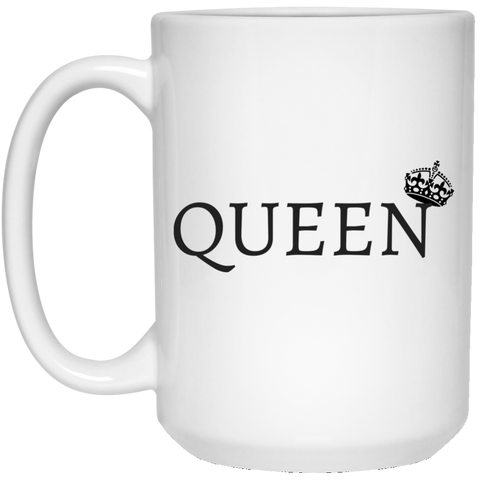 QUEEN - 15 oz. White Mug - Royal Teez Xpress, [poduct_type] - mug, cup, tshirt, hoodie, phone case, tablet case, coaster, apron