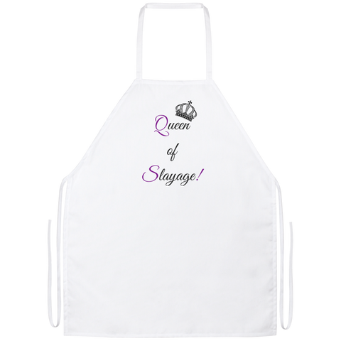 Queen of Slayage - Apron - Royal Teez Xpress, [poduct_type] - mug, cup, tshirt, hoodie, phone case, tablet case, coaster, apron