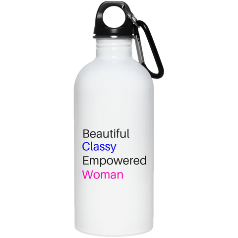 Beautifully Empowered -20 oz. Stainless Steel Water Bottle - Royal Teez Xpress, [poduct_type] - mug, cup, tshirt, hoodie, phone case, tablet case, coaster, apron