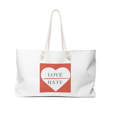 Love over Hate - Weekender Bag - Royal Teez Xpress, [poduct_type] - mug, cup, tshirt, hoodie, phone case, tablet case, coaster, apron