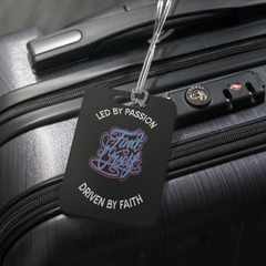 Led by Passion Driven by Faith Luggage Tag by Jessica Ogunnorin and Find Urself