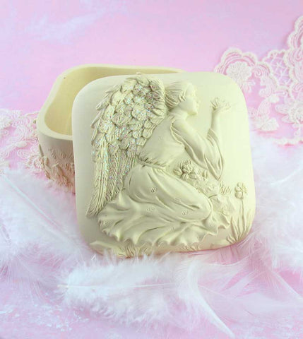 Dreaming of Butterflies Angel Keepsake Box