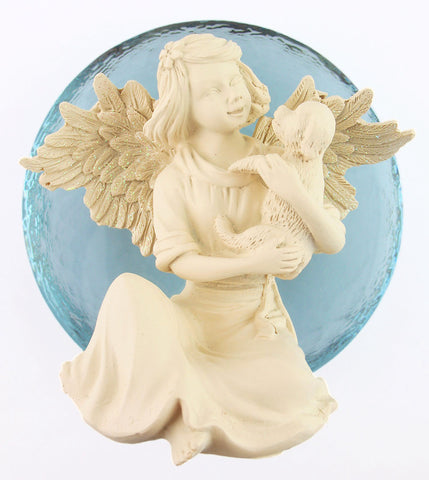 Inspiring Angel of Hopefulness with Puppy Figurine available from The Kindness Of Angels