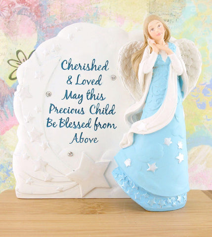 Blessed From Above Guardian Angel Plaque for a Boy Child available from The Kindness Of Angels