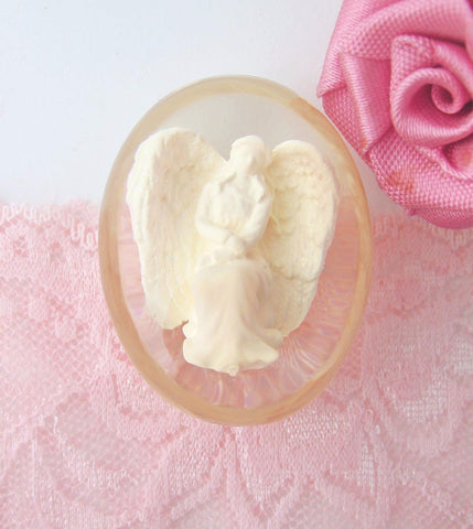 Angel of Courage Clear Worry Stone available from The Kindness Of Angels