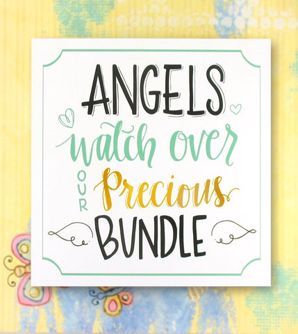 Angels Watch Over Our Precious Bundle Wall Plaque | The Kindness of Angels