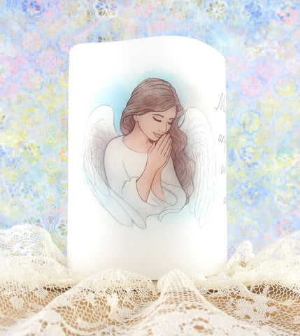 Flameless Flickering Angel Candle Nightlight | The Kindness of Angels