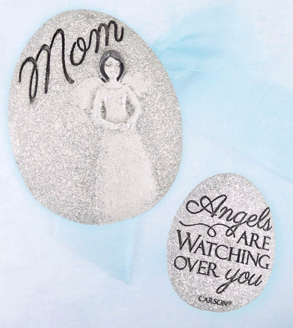 "Token Inscribed ""Mom, Angels Are Watching Over You"" Worry Stone available from The Kindness of Angels"