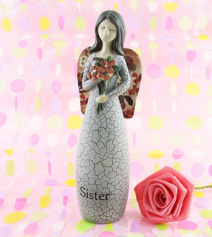 """Sister, A Best Friend Forever"" Small Figurine with Flowers 