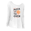 The Pizza In the Hand Long Sleeve Shirt in White - Foodie Fatale