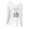 The Dessert Menu Long Sleeve T-Shirt in White (mono) - Foodie Fatale