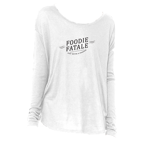 The Foodie Fatale Long Sleeve T-Shirt in White - Foodie Fatale