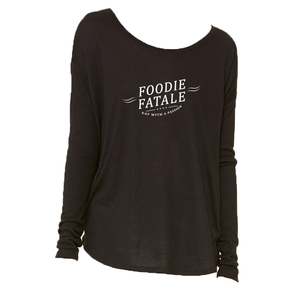 The Foodie Fatale Long Sleeve T-Shirt in Black - Foodie Fatale